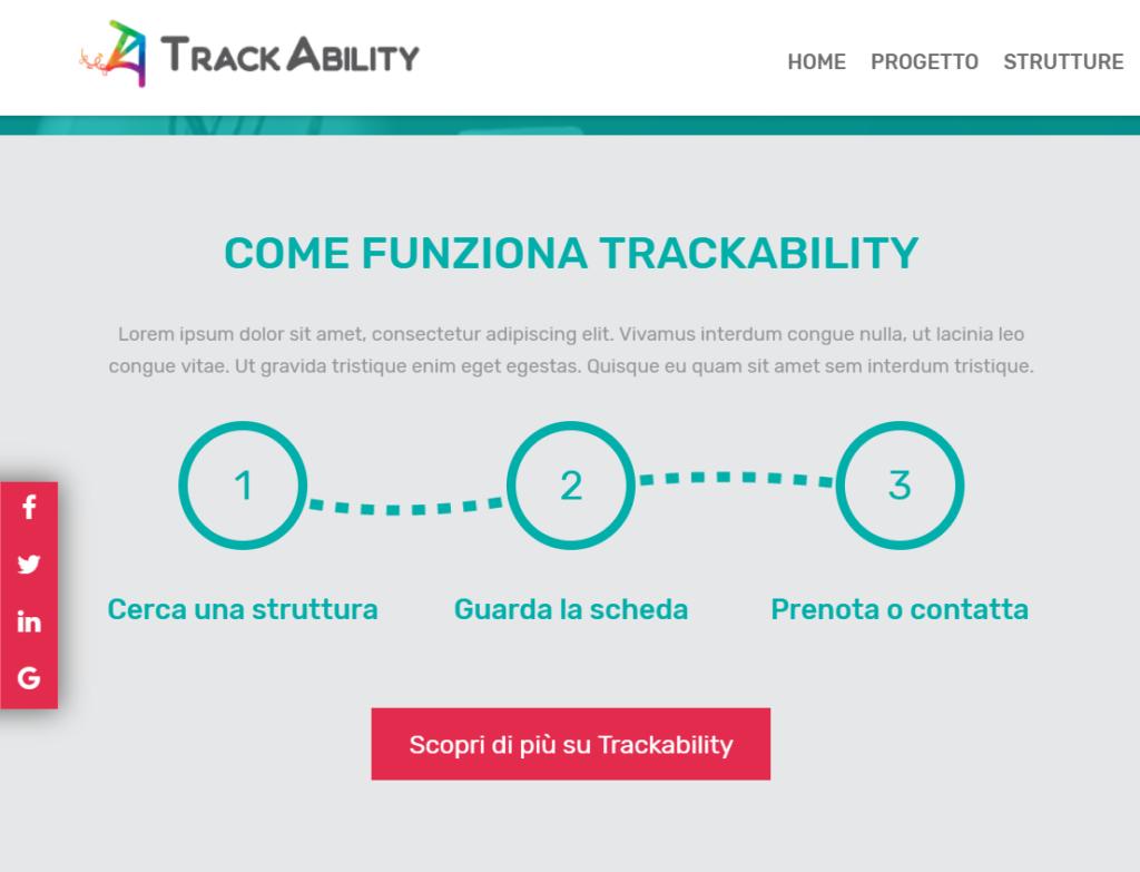 schermato sito trackability