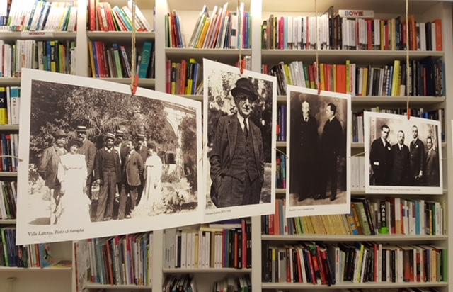 Un scatto dalla mostra alla libreria Laterza