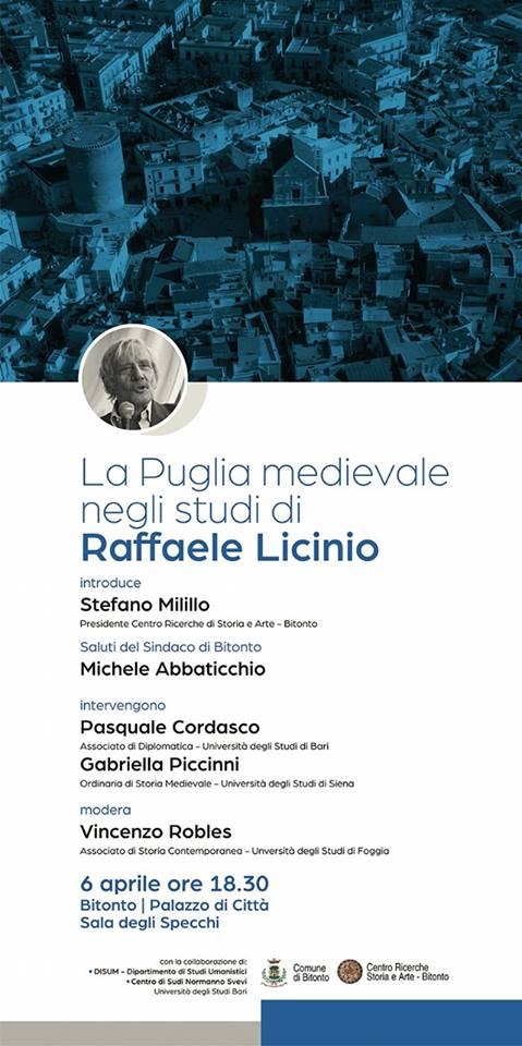 La Puglia medievale del professor Raffaele Licinio