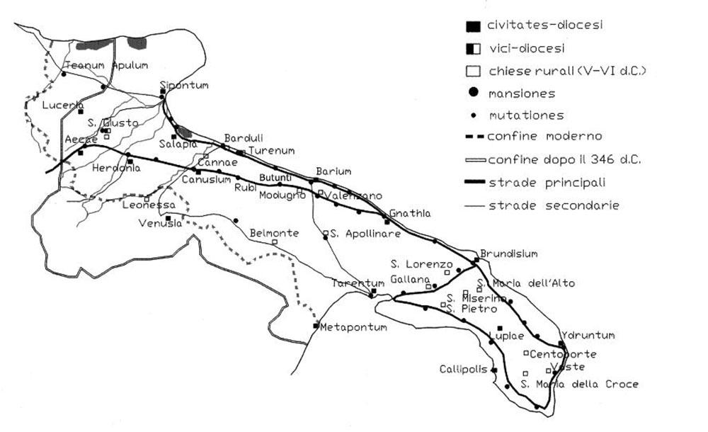 Le città d'origine peuceta della Puglia centrale nell'età romana