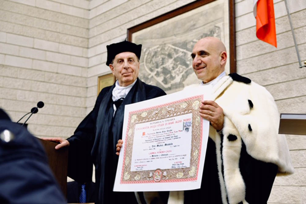 Michele Mirabella laurea ad honorem
